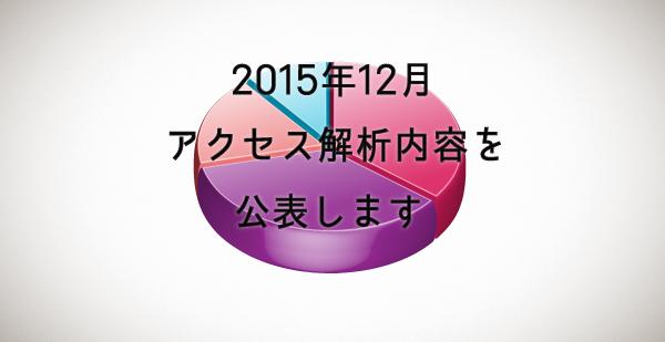 2015年12月のアクセス解析内容を公表します!