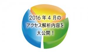 2016年4月のアクセス解析内容を大公開!