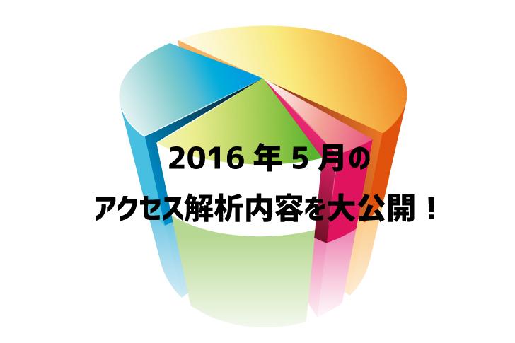 2016年5月のアクセス解析内容を大公開!