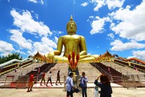 """タイ国内最大の仏像&アユタヤの極上""""焼き川エビ""""とタイ料理"""